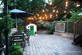 How To String Patio Lights How To Hang String Lights In Backyard Without Trees Summer Lights