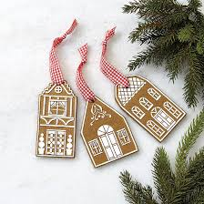 gingerbread house ornaments set of 3 ballard designs