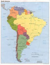 Map Of The United States With Capitals by Maps Of South America And South American Countries Political