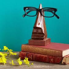 photo holder eye glasses holder wooden nose eyeglass holder uncommongoods