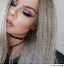 make up tips for salt and pepper hair grey hair and colorful eye makeup ladystyle