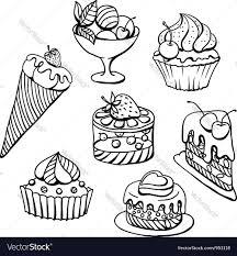 cupcakes icecream sketch royalty free vector image