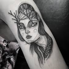 sketch tattoos that look like pencil drawings by nomi chi bored