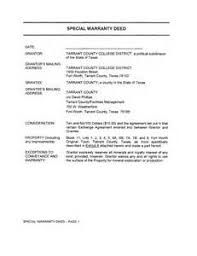 quit claim deed form texas tarrant county free printable paper