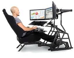 Futuristic Computer Desk Ergonomic Computer Table And Chair Ergonomic Workstation Seating