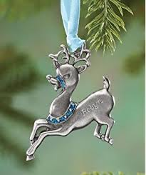 birthstone ornament personalized reindeer birthstone ornament may home
