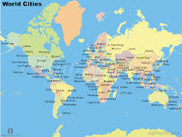 world map of capital cities world cities map cities map of world