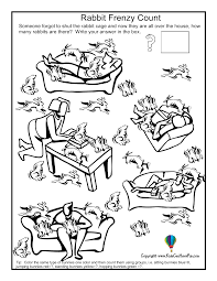 Skip Counting By Fives Worksheets Rabbit Frenzy Counting Worksheet Http Www Kidscanhavefun Com