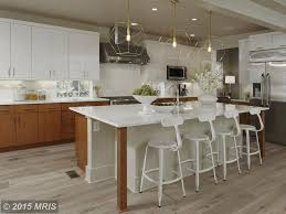 Kitchen Cabinets Washington Dc Contemporary Kitchen With High Ceiling U0026 Kitchen Island In