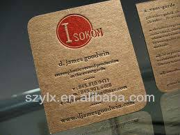 Recycle Paper Business Cards Embossed Recycled Kraft Paper Business Cards Buy Recycled