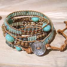 boho wrap boho wrap bracelet turquoise leather wrap from arileljewelry on