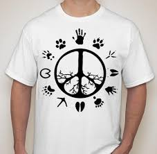 peace sign tree roots footprints vegetarian vegan