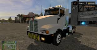 t600 kenworth custom kw t600 oversize load and led lights v2 for fs17 farming