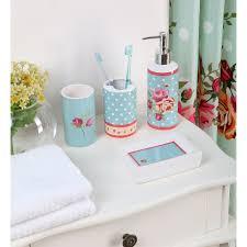 Bathroom Set Polka Dot Floral Bath Set At Home At Home