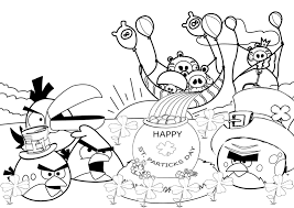 unbelievable angry birds birthday coloring pages with st patricks