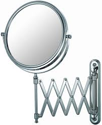 the double sided square wall mounted makeup mirror in wall mirrors