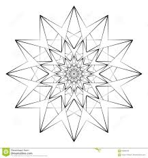 vector illustration abstract print for coloring mandala star