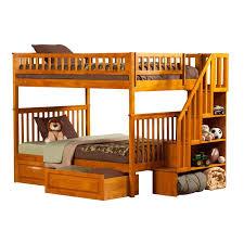 Woodland Bunk Bed Atlantic Furniture Woodland Staircase Storage Bunk