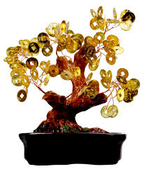 bright gold chinese coin tree large the feng shui boutique by