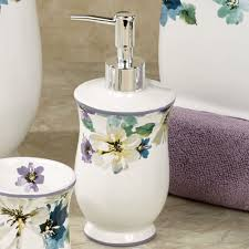Cheap Bathroom Accessories French Floral Ceramic Bath Accessories Floral Bathroom Accessories