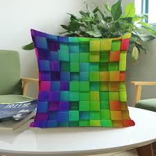 sofa wã rfel bunte geometrien würfel flecken wohnkultur kissen sofa dekorative