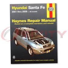for hyundai santa fe haynes repair manual gls lx base limited se
