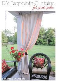 drop cloth curtains for my patio beneath my heart