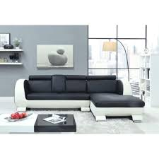 canape cuir 4 places canapé en croûte de cuir 4 places 190x165x90 cm noir et