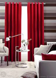 cotton canvas red eyelet lined curtain curtains and curtains uk