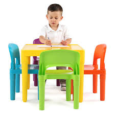 tot tutors plastic table and 4 chairs set toys