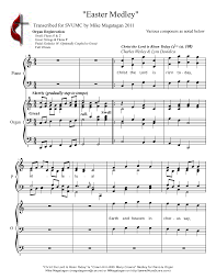 easter medley various composers as noted below sheet