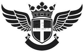 star crown and wings tattoo tattoo design star badge star