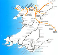 Where Is Wales On The World Map by Wales Train Rail Maps