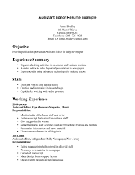 sample employment resume resume sample editorial assistant frizzigame best solutions of editorial assistant sample resume in reference