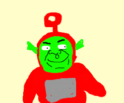shrek disguised teletubby drawing default