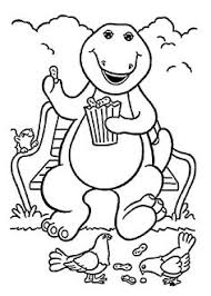 barney coloring pages printables coloring pages