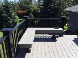 johnson creek azek deck with a custom bench
