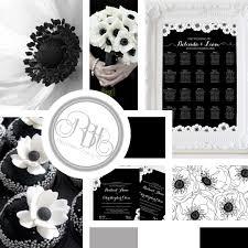 Wedding Program Board Rbh Designer Concepts Black U0026 White Anemone Wedding Inspiration