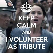 I Volunteer Meme - i volunteer as tribute sequinsandshimmer