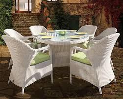 Consider White Wicker Furniture Sets For Creating A Theme Decor - White wicker outdoor furniture