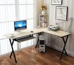 Dual Desk Home Office Office Nice Salt Oak Large L Shaped Desk For Computer Versatile
