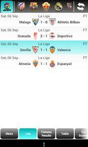 la liga live scores and table la liga live score for android free download on mobomarket