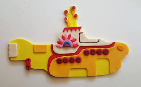 beatles cake toppers beatles yellow submarine inspired edible fondant cake topper