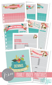 family organization make a household organization binder with free floral family