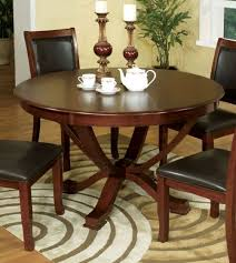Round Cherry Kitchen Table by Furniture Of America Cm3532t Sandy Point Transitional Brown Cherry