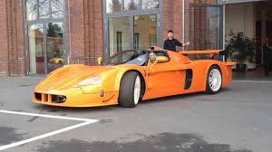 orange maserati edo competition maserati mc12 corsa zr exotics scares man