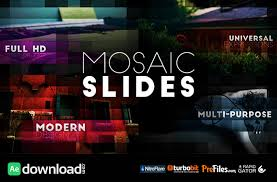 mosaic slides videohive free download free after effects