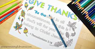 1 thessalonians 5 18 coloring sheet about thankfulness