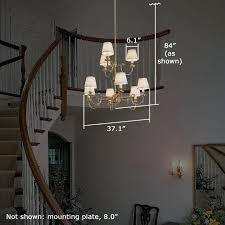full image for chandelier height two story foyer provencea nine light two tier chandelier with electric