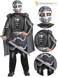 Boys Skeleton Halloween Costume Boys Skeleton Knight Costume Halloween Fancy Dress Medieval Knight